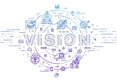 vision  concept,  icons and elements