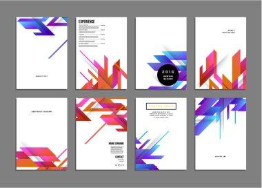 Geometric Vector Backgrounds, set
