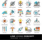 Fotografie Icons Set, Business-Elemente