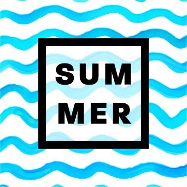 Summer Watercolor Design.