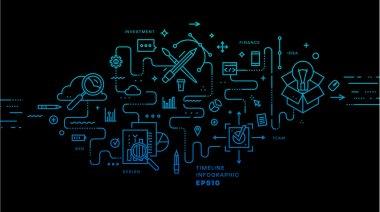 Set of application development icons