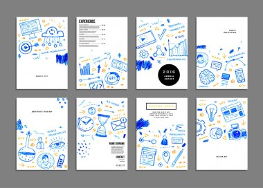 Set of templates with business elements