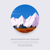 Photo Mountaineering and Traveling  Illustration
