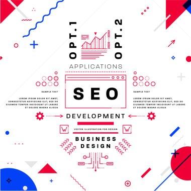 SEO development  Concept.