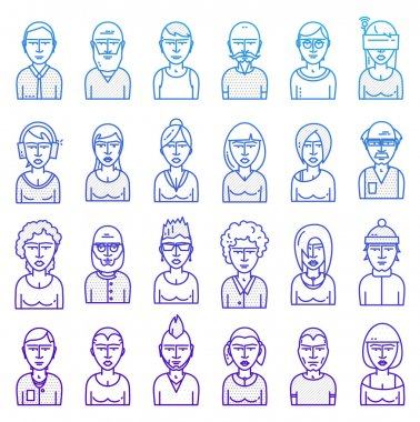 Set of People Avatars