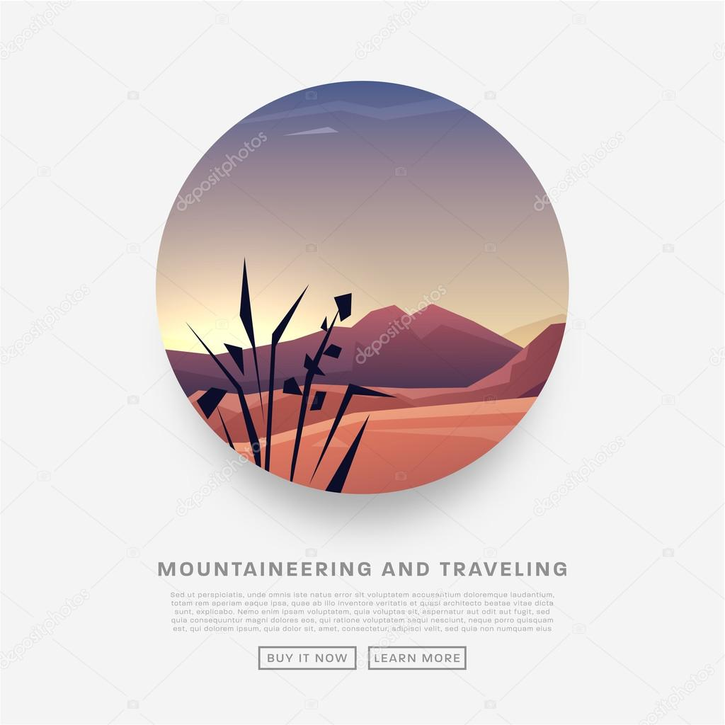 Mountaineering and Traveling  Illustration