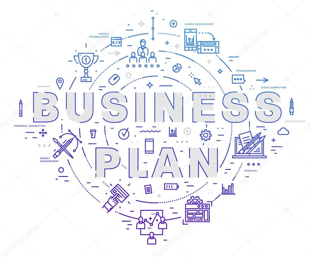 Business Plan Icons And Elements U2014 Stock Vector