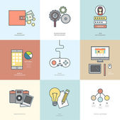Photo Collection of Flat Design Icons
