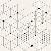 Moderní černá Techno geometrický vzor