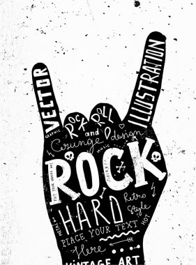 Vintage Label, Rock and Roll Style. Typography Elements. stock vector