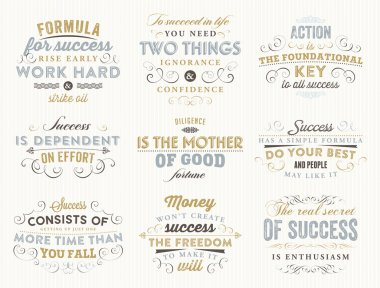 Set of Quotes Typographical Posters