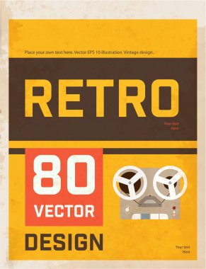 Poster with Reel Tape Player