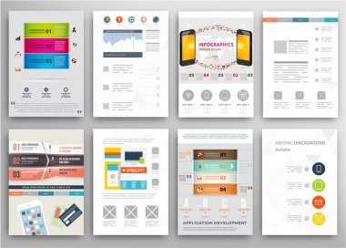 Set of Flyers, Brochure Design Templates