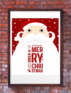 Santa Claus with Merry Christmas Label