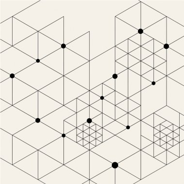 Modern Black Techno Geometric Pattern