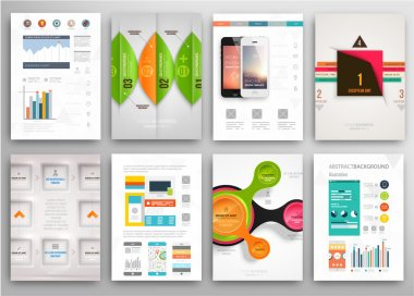 Set of Flyers, Brochure Design Templates