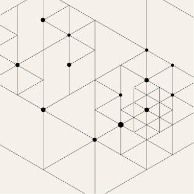Modern Black Techno Geometric Pattern