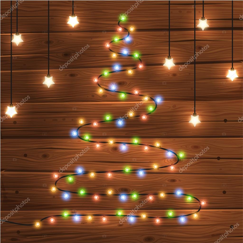 Glowing Christmas Lights Tree