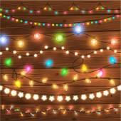 Fotografia luci di Natale incandescente