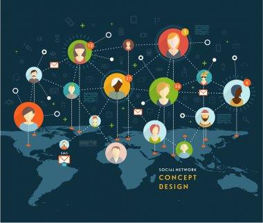 Social Network Vector Concept