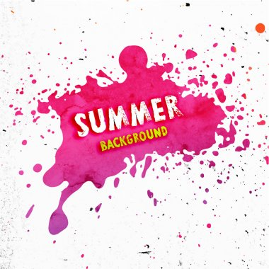 Summer background with red paint splash