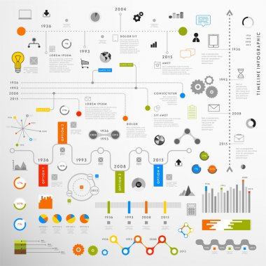 Set of Timeline Infographic Design Templates