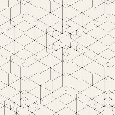 Seamless Pattern with Geometric Tiles