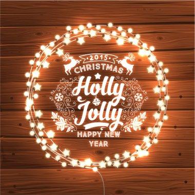 Glowing Christmas Lights Wreath