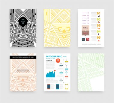 Infographic with Abstract Geometric Patterns