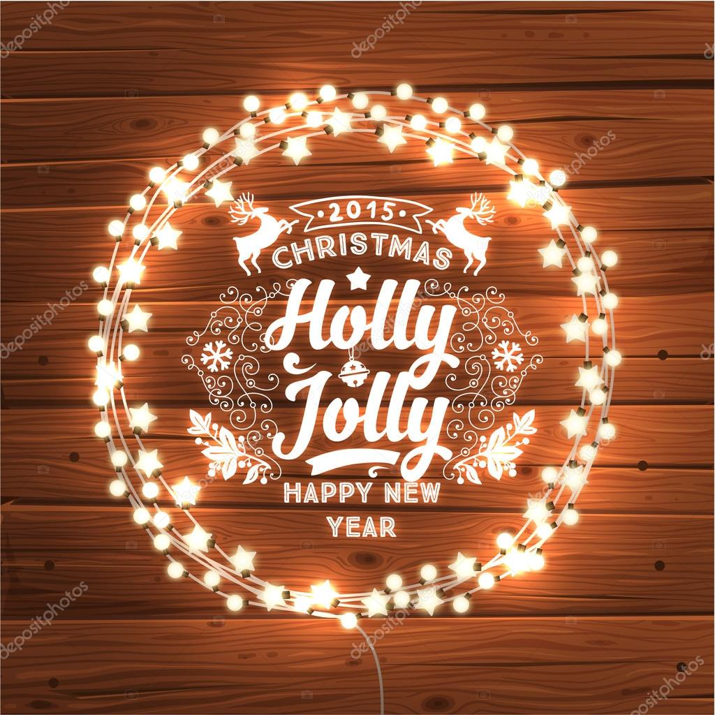 Glowing Christmas Lights Wreath