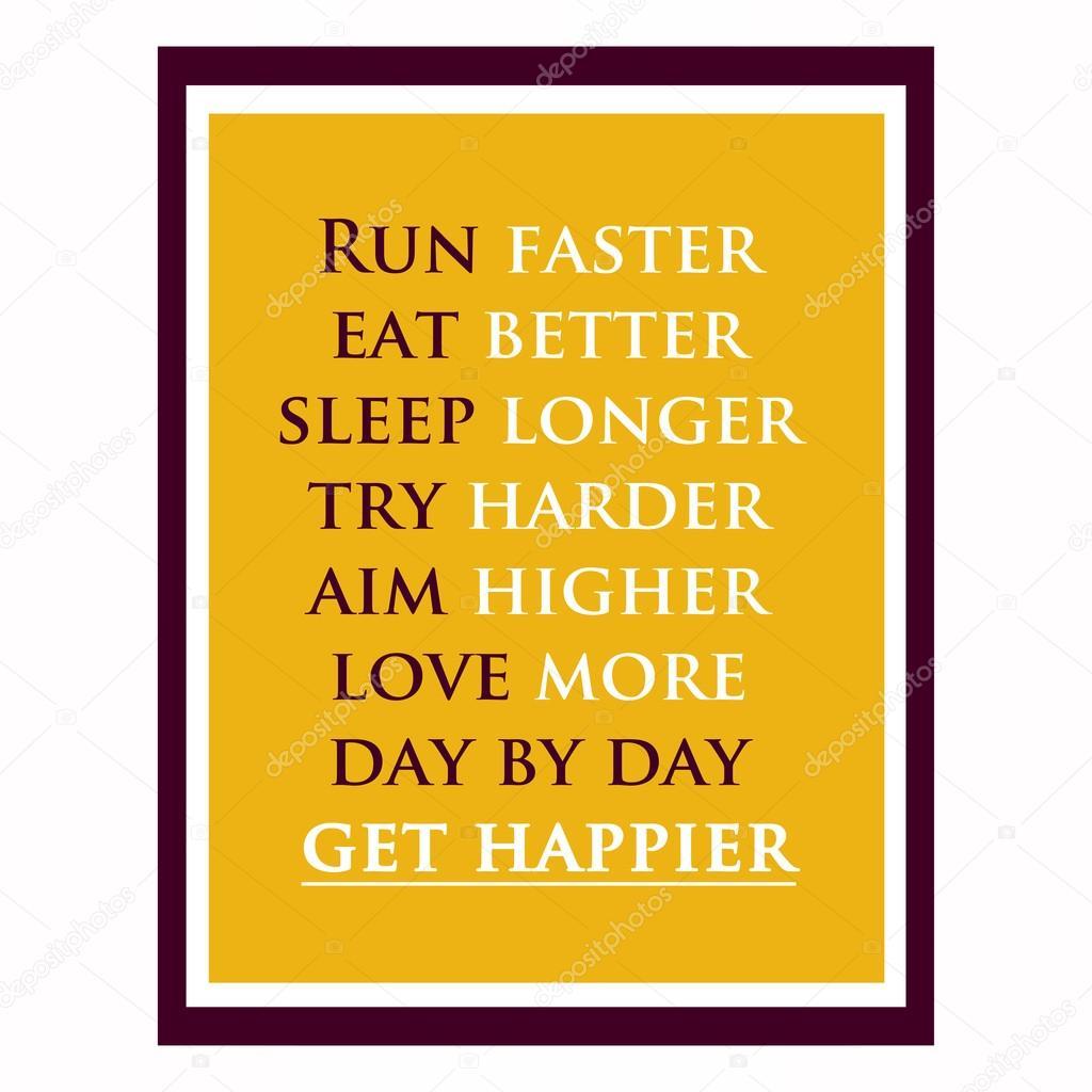 Zitat von inspirierend und motivierend. Effekte-Poster, Rahmen, col ...