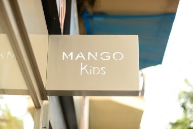 PALMA, MALLORCA - AUGUST 01, 2015: Shop and the logo of the brand
