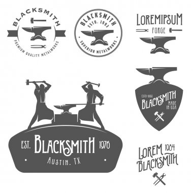 Vintage blacksmith design elements