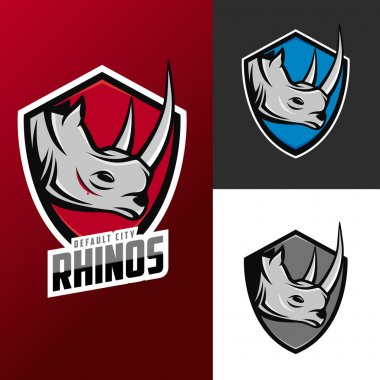 Rhino mascots for sport teams