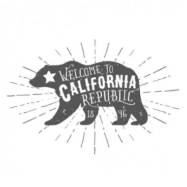 Vintage California Republic bear
