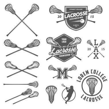 Set of lacrosse design elements