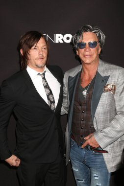 Norman Reedus and Mickey Rourke