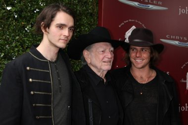 WIllie Nelson with sons Micah Nelson and Lukas Nelson