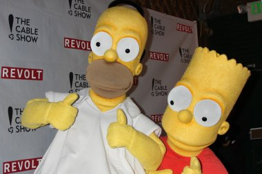 Homer Simpson and Bart Simpson