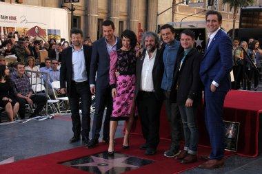 Orlando Bloom, Elijah Wood, Evangeline Lilly, Peter Jackson, Andy Serkis, Lee Pace