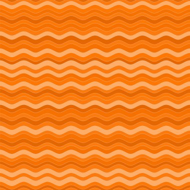 Cute orange patterns with colored waves randomly.Vector