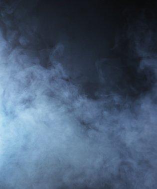 Smoke over black background stock vector
