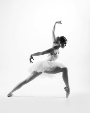 Young beautiful ballet dancer
