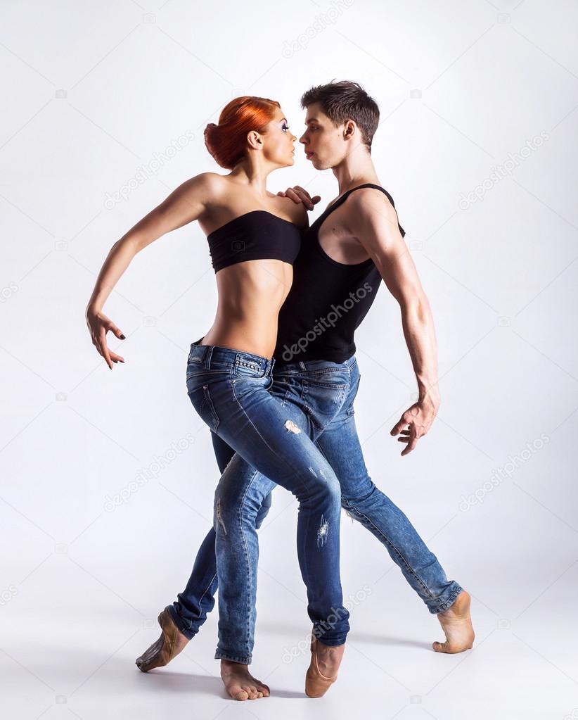 Pareja bailarines pequeño en Badajoz