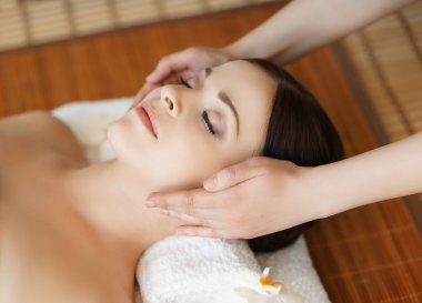 beautiful and healthy woman in spa salon