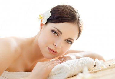 woman on spa massage procedure