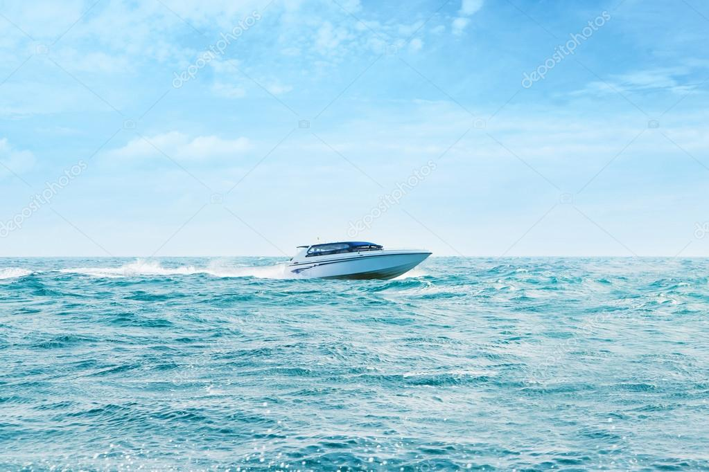 Big and luxury speedboat
