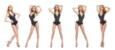 fashion woman posing in swimsuit