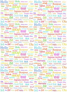 word Hello written in different languages