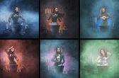 Fotografie Hexe zaubern im dungeon
